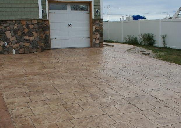 stamped concrete driveway services in NJ